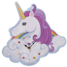 30cm Modern Funky Style MDF Wooden Unicorn Shaped Wall Clock Kits Bedroom Gift