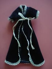 VINTAGE BARBIE CAPE GOWN COAT NAVY VELVET HANDMADE