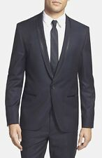 Men HUGO Boss Arlens Hettin Trim Fit Wool Tuxedo Coat Blazer Jacket Suit 38R New