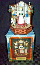 "Enesco Lighted ""Backstube Bavarian Kitchen"" Multi-Action Music Box"