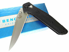 BENCHMADE KNIFE 943 OSBORNE Black Anodized Aluminum Axis Drop-Point Folder