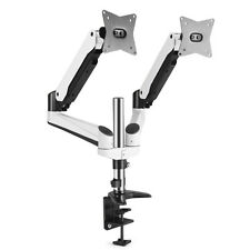 Dual Monitor Mount Desk Stand Adjustable Gas Spring Arm Tilt Swivel Rotate VESA