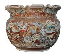 Cache pot en terre cuite émaillée 1900 Satsuma