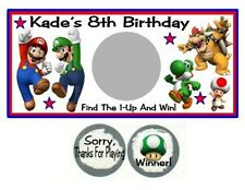 10 Super Mario Brothers Bros Birthday Party Scratch Off Game Tickets Cards