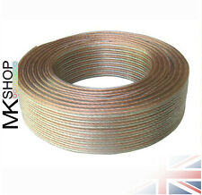 50m Loud Speaker Cable 2 x 0.50mm Wire OFC Oxygen Free Copper HiFi Audio Car Van