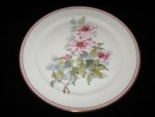 """Pickard Floral, Pink Flowers, Pink Trim, 11"""" Collector Plate"""