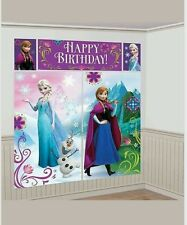 Disney Frozen Scene Setters Wall Decorating Kit Anna Elsa Backdrop