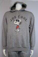 Adult MEDIUM Snoopy Joe Cool Heather Gray Hooded Hoodie Sweatshirt