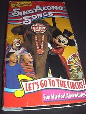Sing Along Songs - Mickeys Fun Songs: Lets Go to the Circus (VHS, 1994) DISNEY