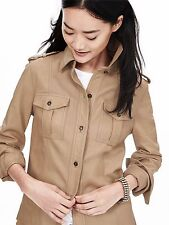 Banana Republic Women's Natural Heritage Leather Shirt Jacket, Mojave SIZE S