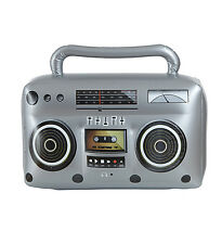 INFLATABLE RADIO CASSETTE PLAYER 80S RETRO FANCY DRESS ACCESSORY NOVELTY
