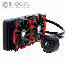 ID-COOLING 240L AIO Water Cooler + Unique Comet-tail LED Lighting,240mm Radiator