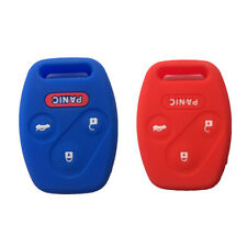 Blue and Red Silicone Keyless Entry Remote Key Fob Case Skin Cover for Honda