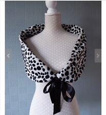 Cruella de vil fancy dress costume, Dalmatian Fur stole, wrap, cape