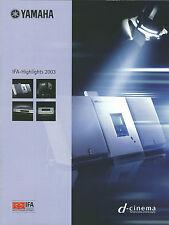 Yamaha Katalog Prospekt IFA 2003 MCX-1000 MCX-A10 MCX-SP10 DSP-Z9 RX-V2400 MX-D1