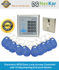 Electronic RFID Door Lock Access Controller with 10 RFID with Exit Push button