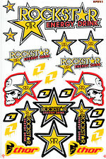 Metal Mulisha Rockstar Energy Sticker Graphic Kit Motocross Motorcycle Helmet #1