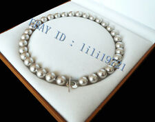 """12mm AAA+ Silver Gray south sea shell pearl necklace 18"""""""