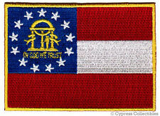 GEORGIA STATE FLAG embroidered iron-on PATCH EMBLEM GA