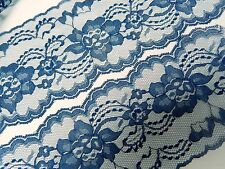 "NAVY BLUE LACE 3 yds. - 3"" wide - WEDDING - RUNNERS - INVITATIONS - SEWING TRIM"