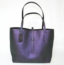 COACH leather HOLOGRAM Marketplace tote bag 54631 Purple NWT