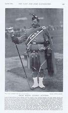 Londres escocés Regimiento Tambor grandes Goodman-Antiguo impresión fotográfica 1897