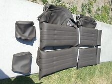 BMW E28 528I 535I M5 SPORT SEATS KIT OEM NUTRIABRAUN LEATHER BEAUTIFUL KIT ONLY