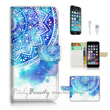 iPhone 6 6S (4.7') Flip Wallet Case Cover P2458 Aztec Flower
