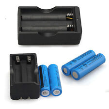 New 4PCS UltraFire BRC 3.7v Rechargeable 18650 Li-ion Battery+Smart Dual Charger