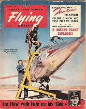 RAF FLYING REVIEW FEB 57 FACSIMILE: PEMBROKE/ HUNTER T7/BELL X-IA/COUGAR CUTAWAY