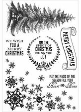 Frosted Christmas, Clear Unmounted Rubber Stamp Set KAISERCRAFT - New, CS272