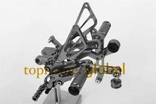 CNC Titanium Foot pegs Rearsets Rear set For Yamaha YZF R6 R600 2006-2014 Grey