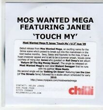 (BS429) Mos Wanted Mega ft Janee, Touch My - DJ CD