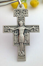 "CROCE ""SAN DAMIANO"" IN ARGENTO MASSICCIO 925-STERLING SILVER SAINT DAMIANO CROSS"