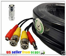 *Black 100ft Extension Power/Video Cable for Swann HD Security CCTV Systems Kit