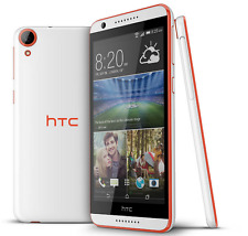 "Unlocked 5.5""Dual card HTC Desire 820 16GB Android Cellphone White-Orange Border"