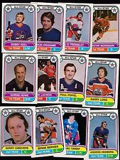 1975 O-PEE-CHEE WHA LOT of 12 ALL-STARS NM- HOWE HULL CHEEVERS HEDBERG OPC