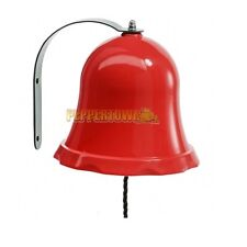 Red Plastic School Bell Cubby House Playground Fort Rock Wall Accessories Ring