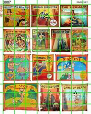 3007 DAVE'S DECALS NEW SMALLER CIRCUS FREAK SIDESHOW SET BUY 5 SETS FREE S/H