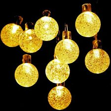 Solar Globe Fairy String Lights, GDEALER 20ft 30 LED Crystal Ball Waterproof Out