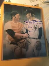 Stan Bahnsen Signed Inscribed W/ Thurman Munson 8X10 Photo PSA/DNA Quick Opinion