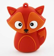 1pc 16GB Orange Fox Animal Keychain USB Flash Thumb Drive USA Shipper