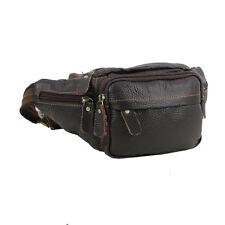 Men Genuine Leather Waist Bag Travel Messenger Shoulder Sling Chest Fanny Pack