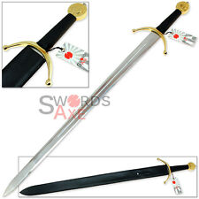 Edward III of England Templar Cross Longsword Replica - Full Tang Sword