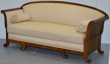 VERY RARE ANTIQUE SWEDISH ROSEWOOD BIEDERMEIER SOFA WITH SLIDING BASE DRAWER