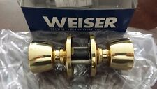 20 WEISER BEVERLY PRIVACY KNOBS BED & BATH POLISHED BRASS 330