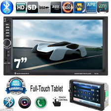"Double 2 Din 7"" HD In Dash Stereo Car MP3 MP5 Player Bluetooth Radio iPod SD/USB"