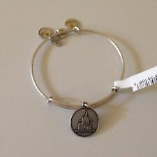 DISNEY WORLD ALEX AND ANI CINDERELLA CASTLE CHARM BANGLE BRACELET -SILVER -NEW