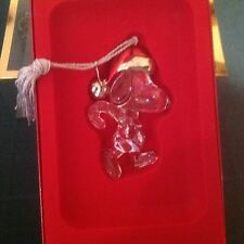 Peanuts Lenox Snoopy ornament full lead crystal made in Germany