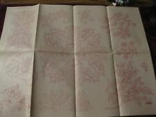 IO-A295  VTG ARTEX HAND  EMBROIDERY PAINTING TRANSFER-FLORAL DOILY, FLOWERS